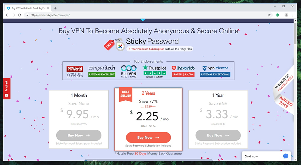 Ivacy VPN Review - Pricing