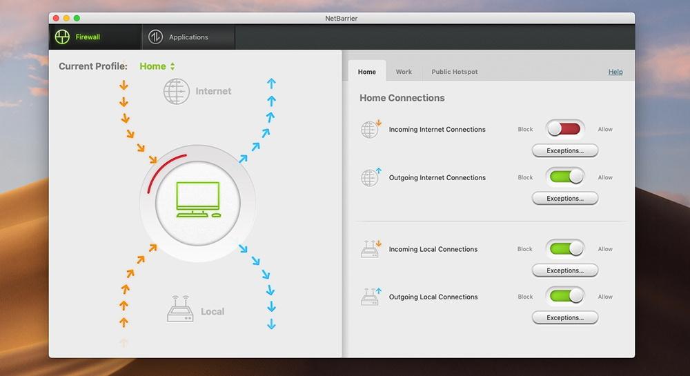 Mac Premium Bundle X9 - NetBarrier Interface