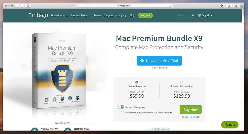 Mac Premium Bundle X9 - Pricing