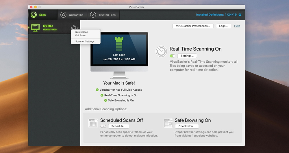 Mac Premium Bundle X9 - Type of Antivirus Scans