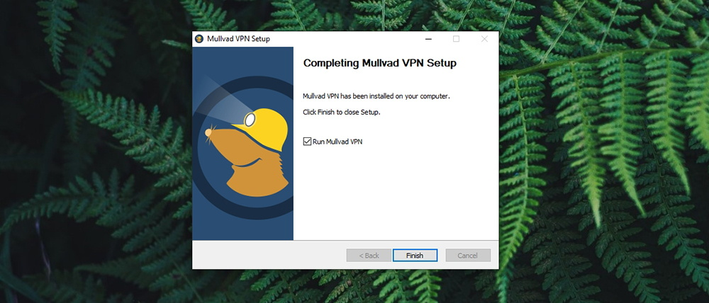 Mullvad VPN Review - Installation Done