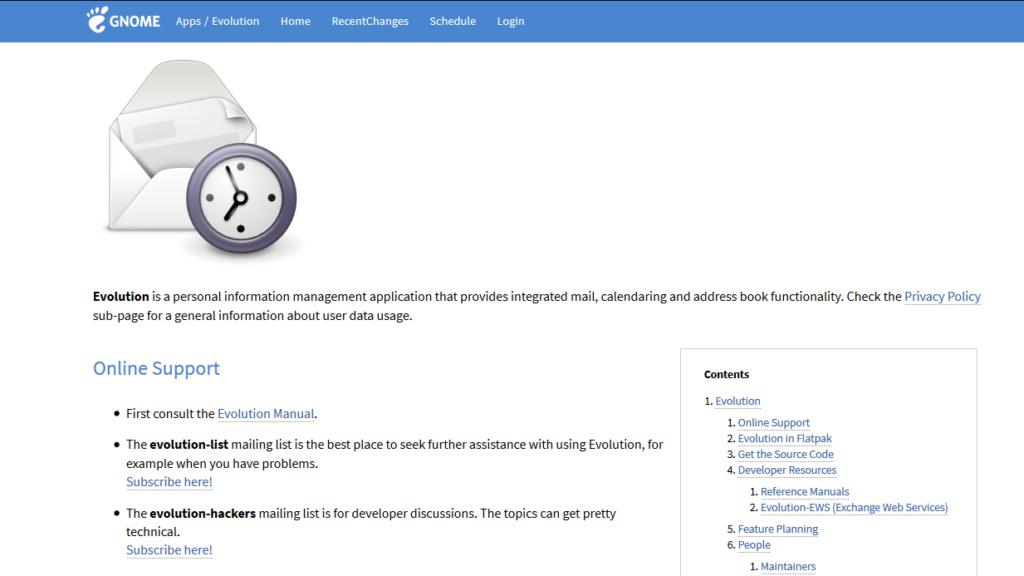 Outlook Alternatives-Evolution-Mail
