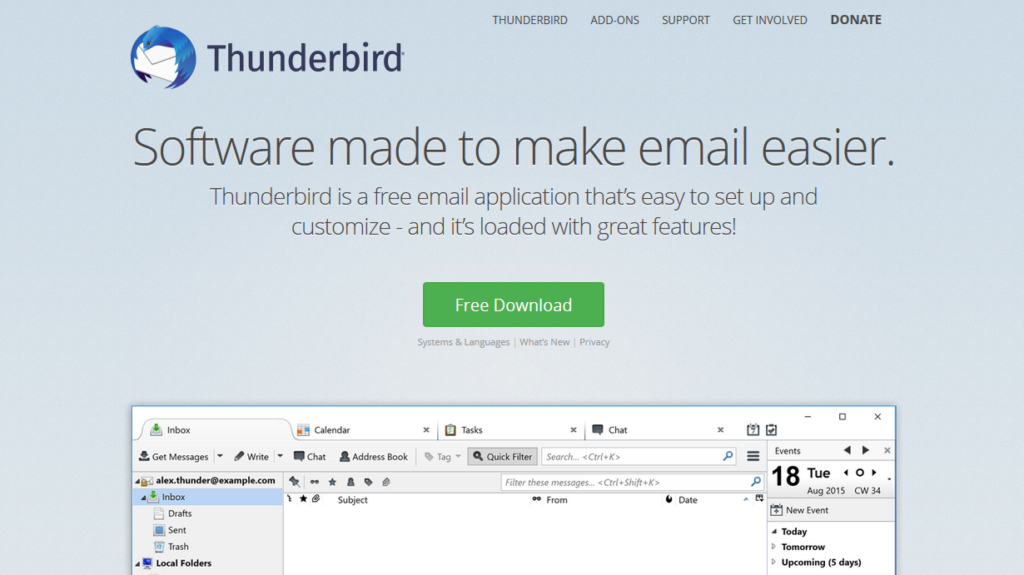 Outlook Alternatives-Thunderbird