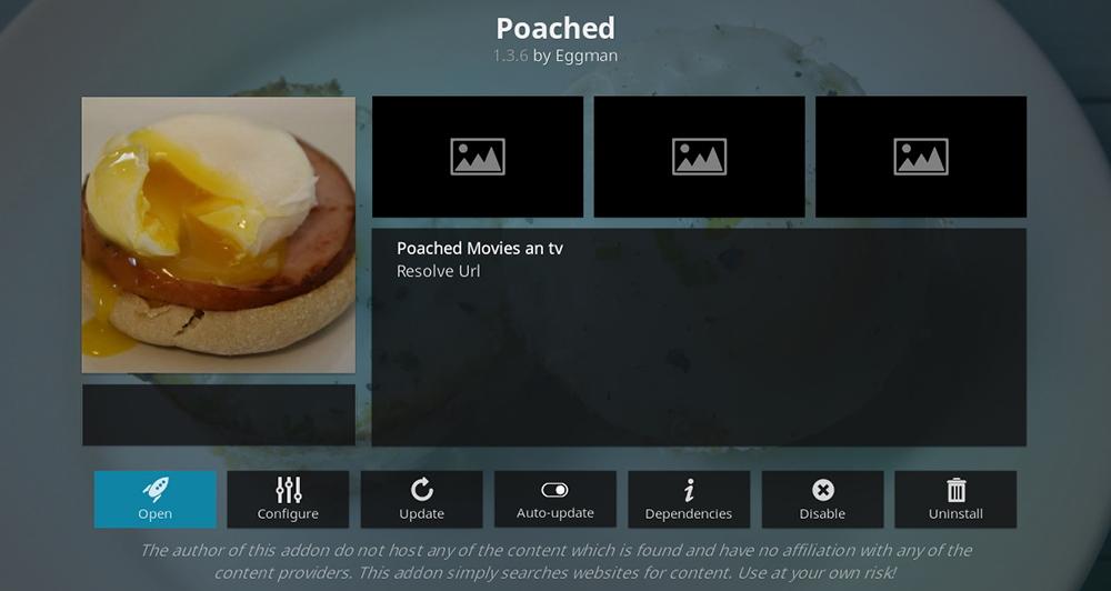 Poached Kodi Addon