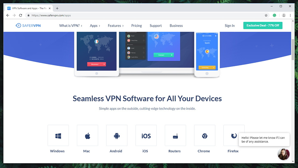 SaferVPN Review - Supported Devices