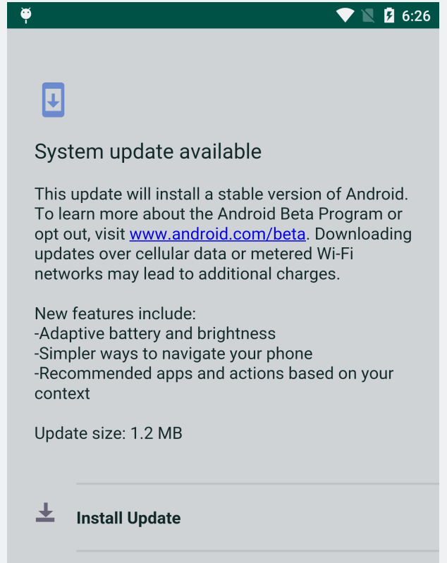 anubis fake system update