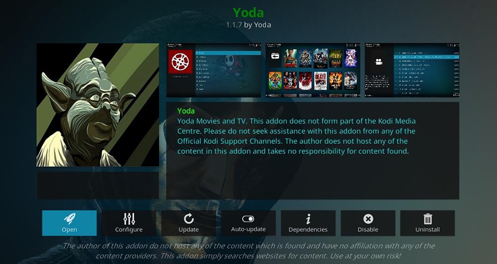 Yoda Kodi Addon
