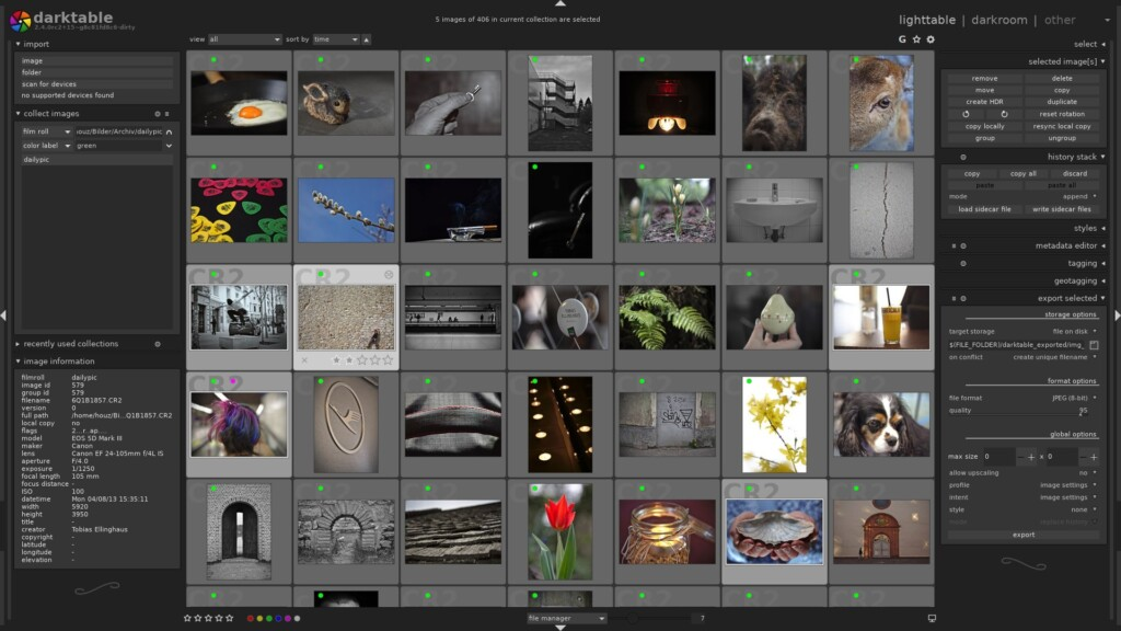 Adobe Lightroom Alternatives - Darktable