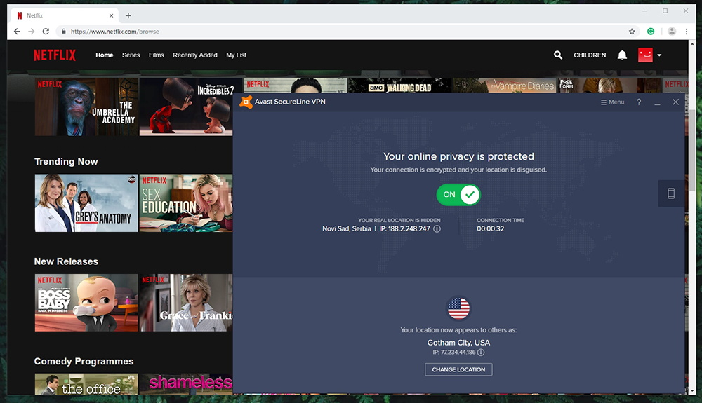 Avast SecureLine VPN - Netflix Unblocking