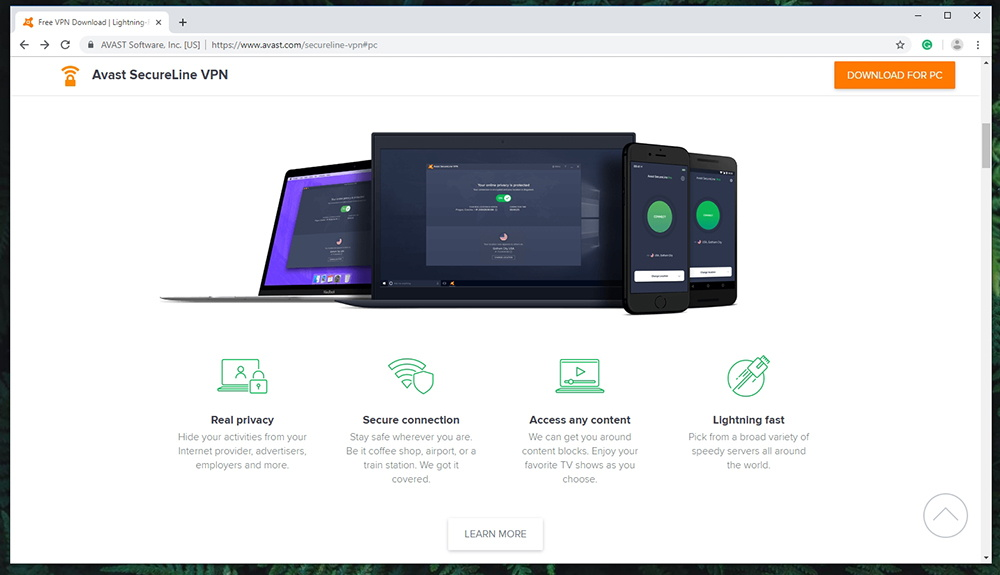 Avast SecureLine VPN - Prominent Features