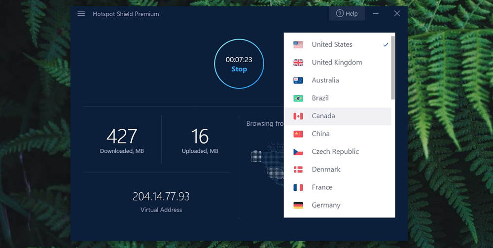 Hotspot Shield VPN - Server Selection