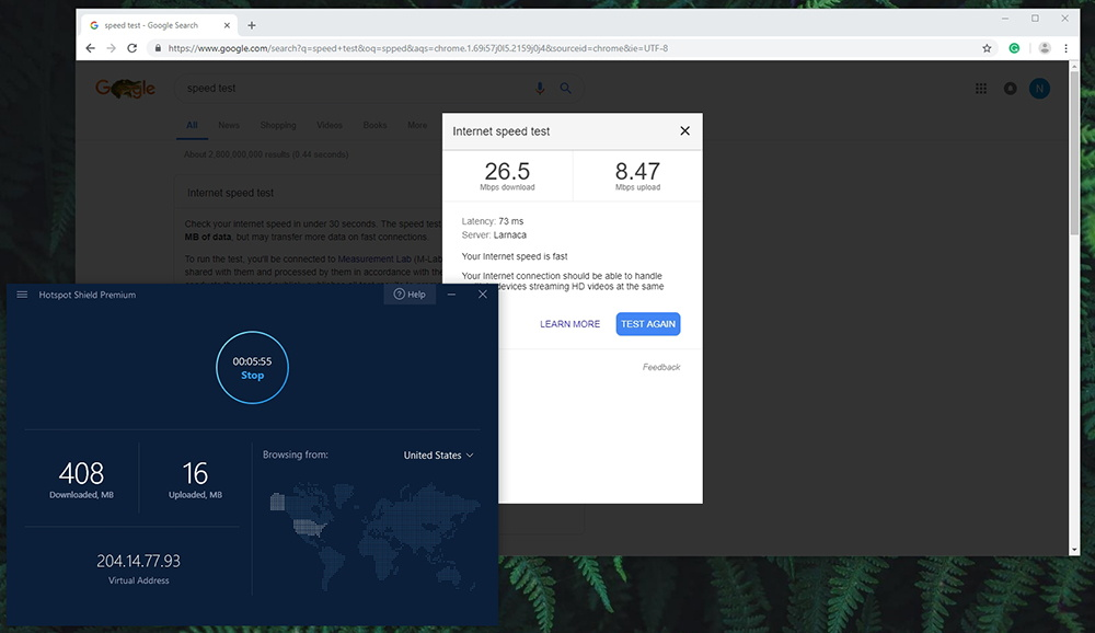 Hotspot Shield VPN - Speed Test