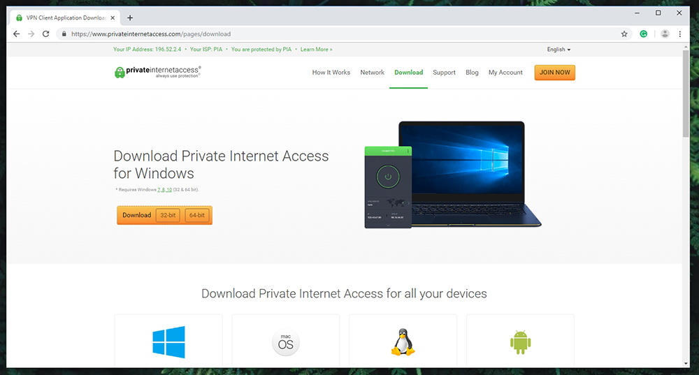 Private Internet Access VPN - Supported Devices