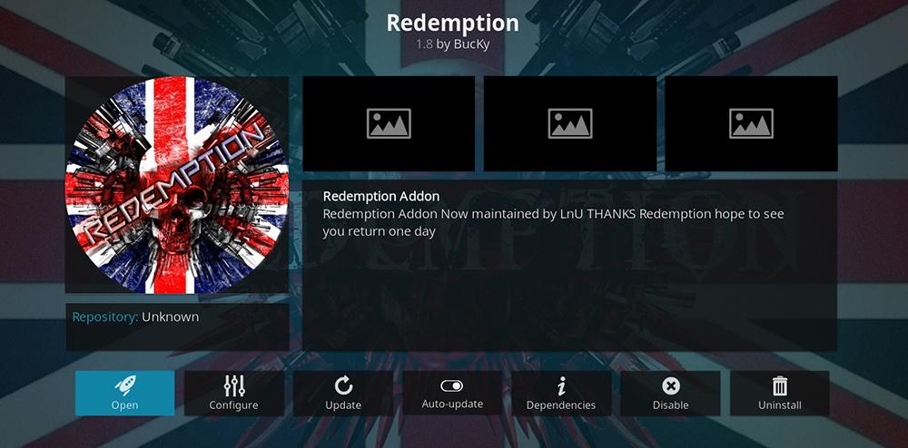 Redemption Kodi Addon