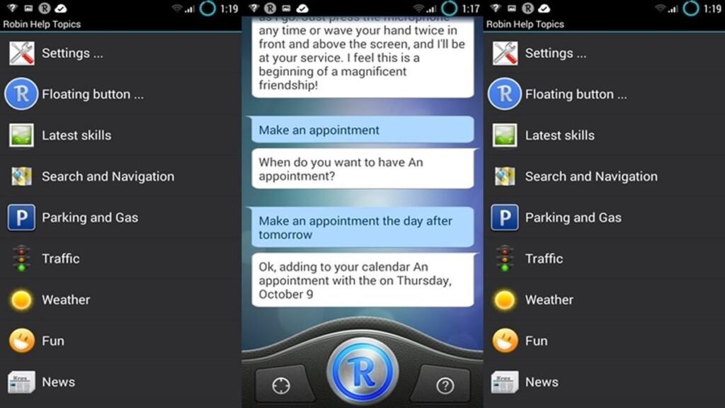 Siri Alternatives for Android - Robin