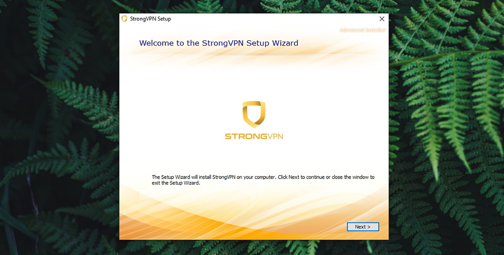 StrongVPN Review - Installation Wizard