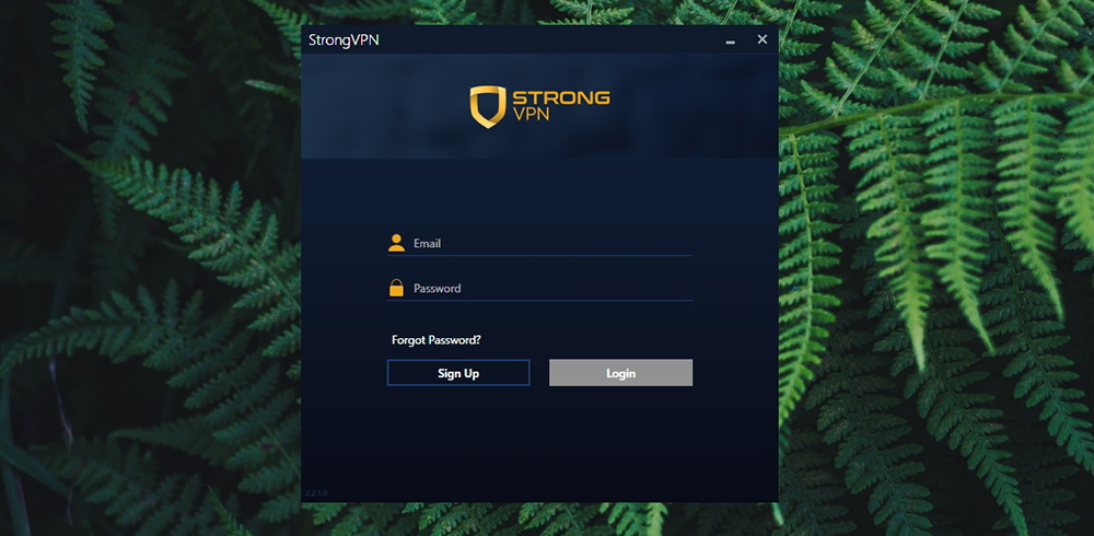 StrongVPN Review - Login Screen