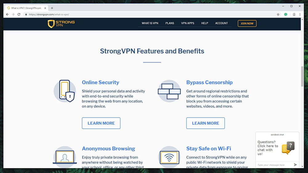StrongVPN Review - Prominent Features