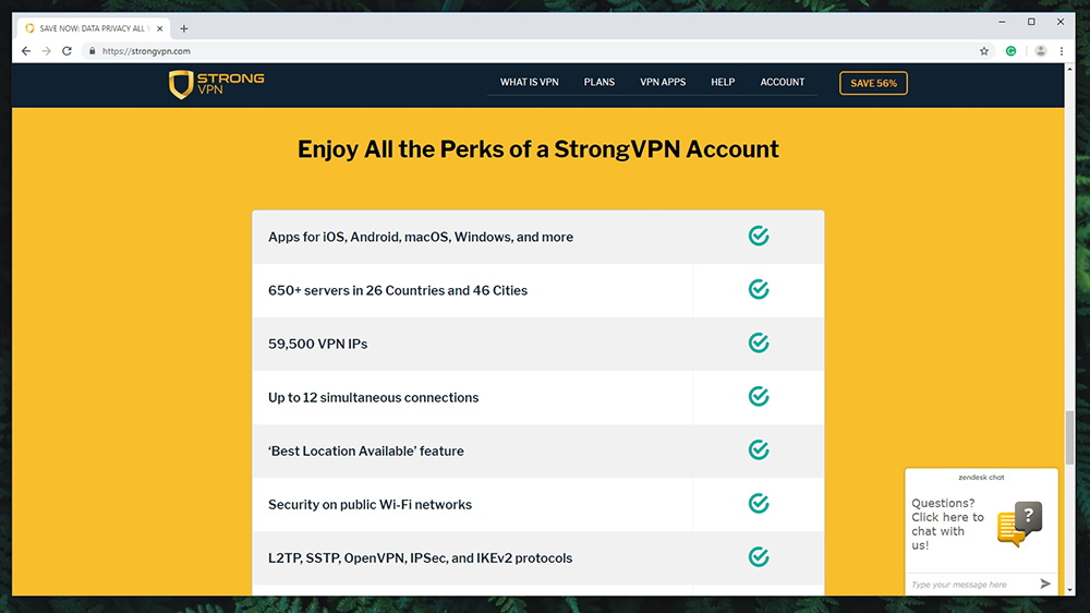 StrongVPN Review - Website