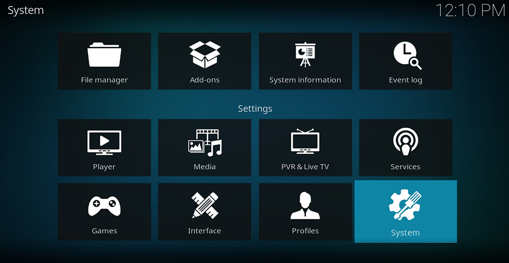 System Settings Kodi 18