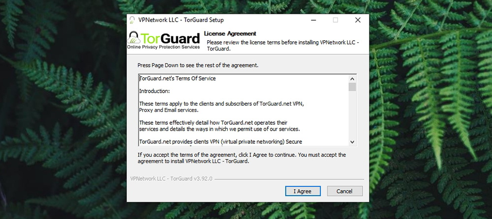 TorGuard Review - Installation Wizard