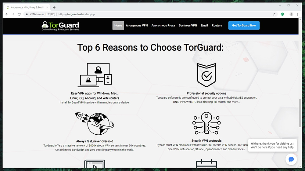 TorGuard Review - Prominent Features