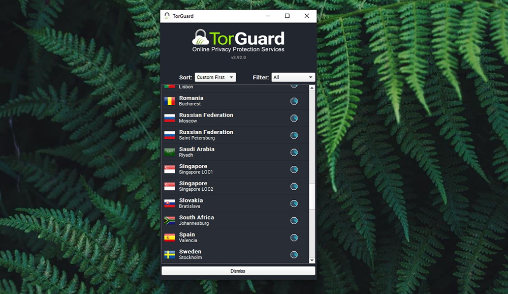 TorGuard Review - Server Selection