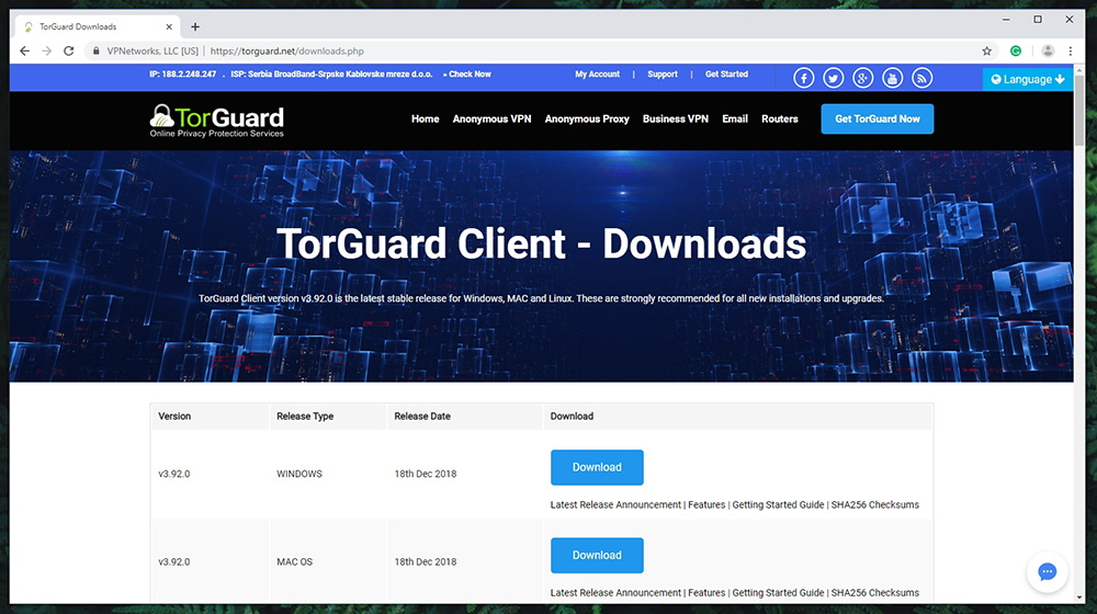 TorGuard Review - Supported Platforms