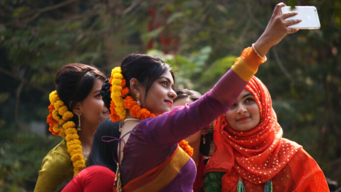Women Taking Selfie on Bangladesh
