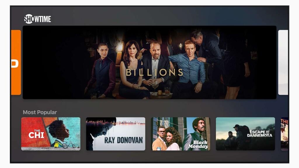 Apple TV+ Showtime integration
