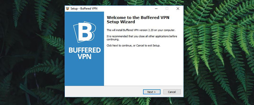 Buffered VPN Installation Wizard