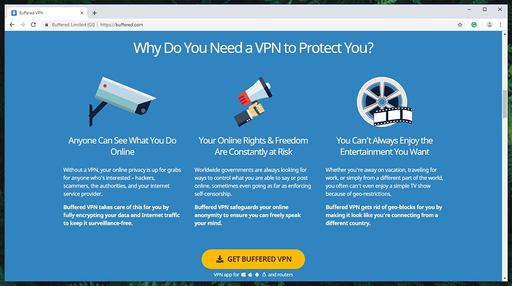 Buffered VPN Prominent Features