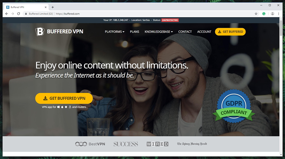 Buffered VPN Website