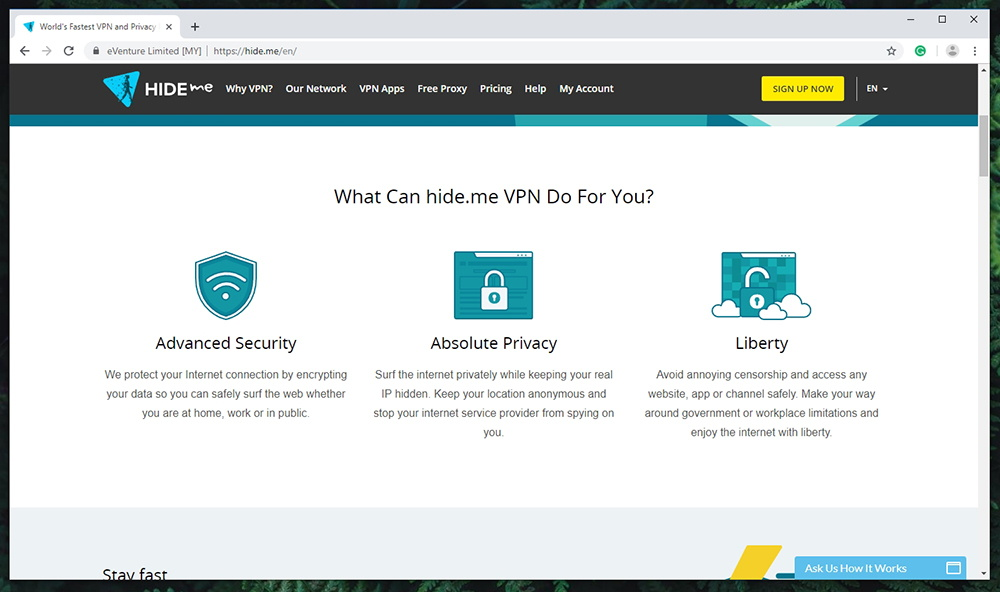 Hide Me VPN Prominent Features