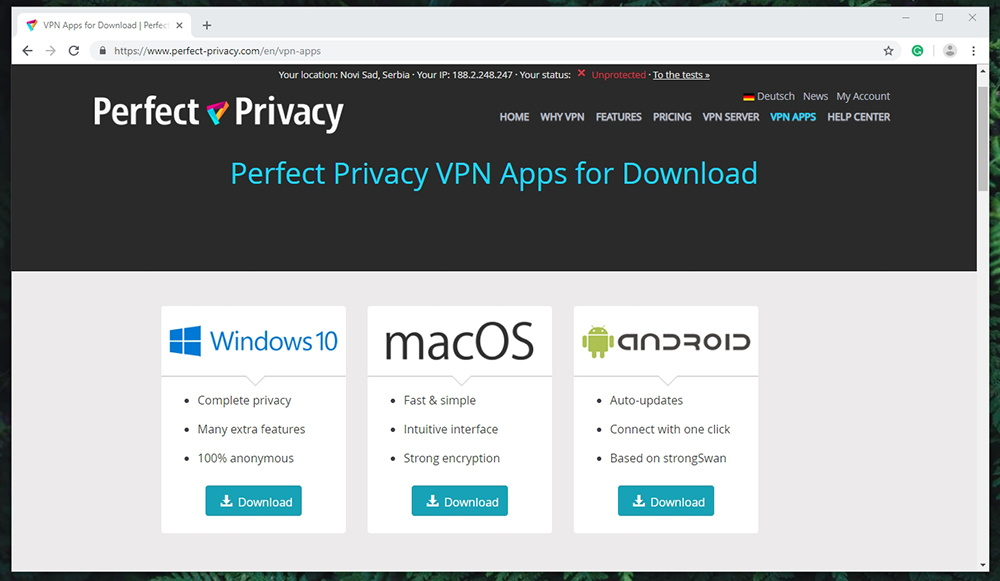 Perfect Privacy VPN Supported Platforms