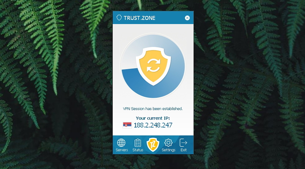 Trust.Zone VPN - Connection Progress