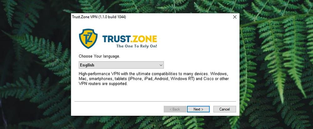 Trust.Zone VPN - Installation Wizard