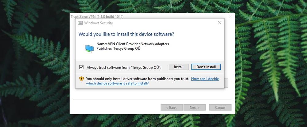 Trust.Zone VPN - LAN Adapter
