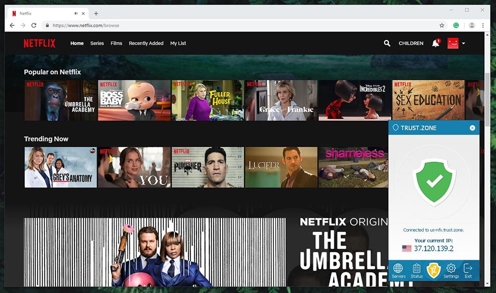 Trust.Zone VPN - Netflix