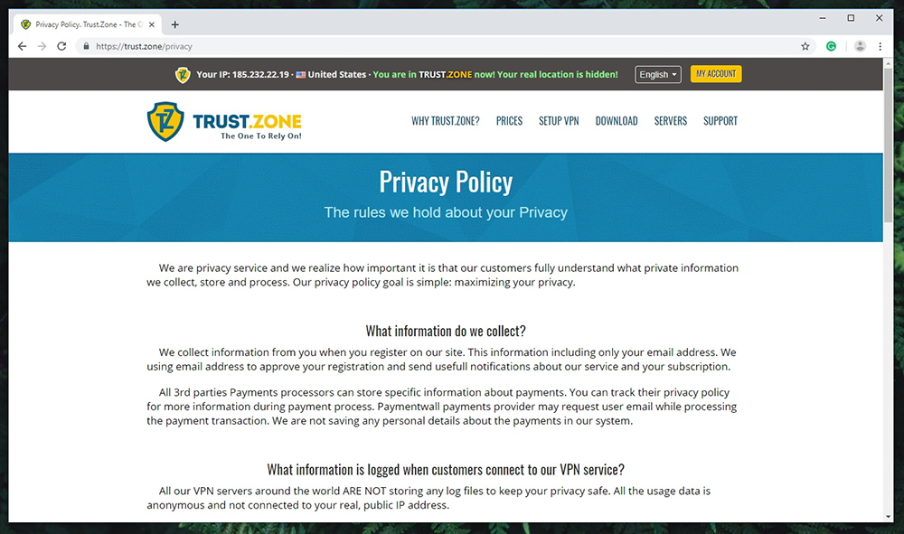 Trust.Zone VPN - Privacy Policy