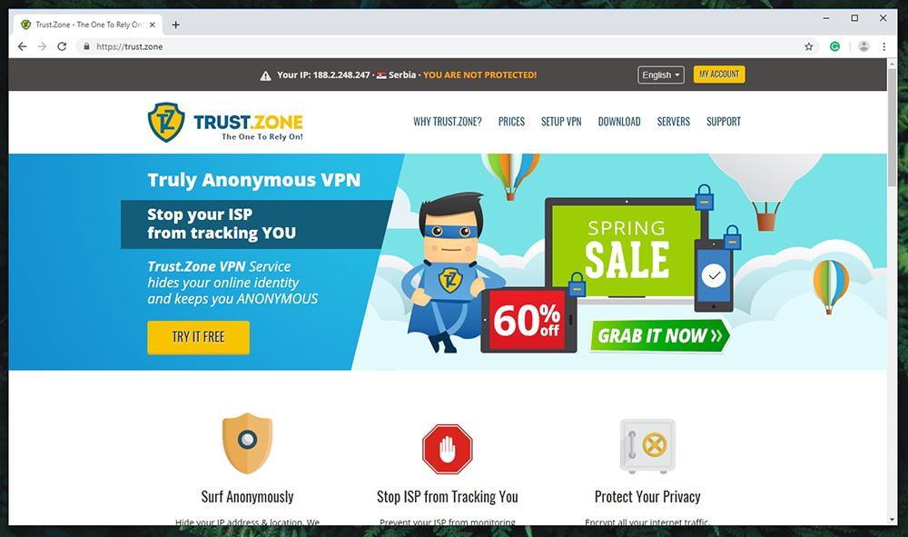 Trust.Zone VPN - Website