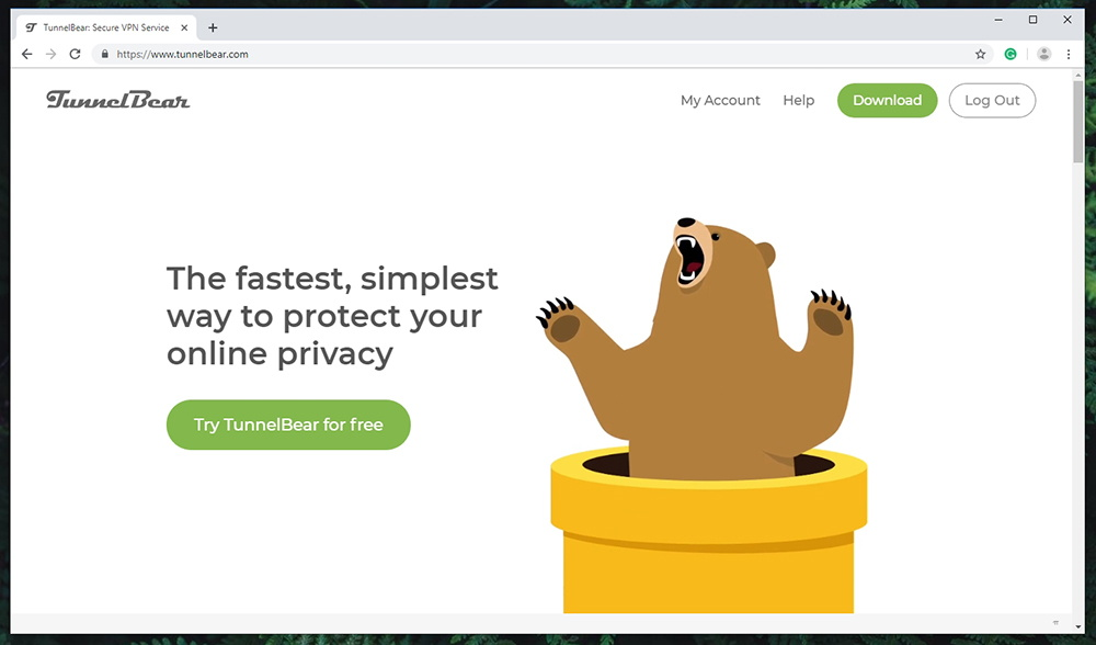 TunnelBear VPN Website
