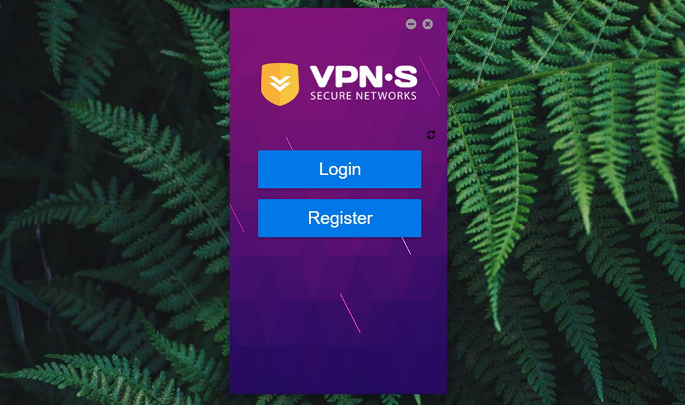 VPNSecure Login Screen