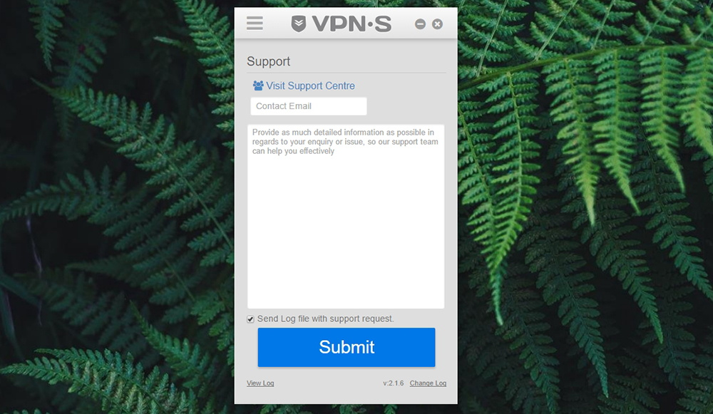 VPNSecure Support Ticket