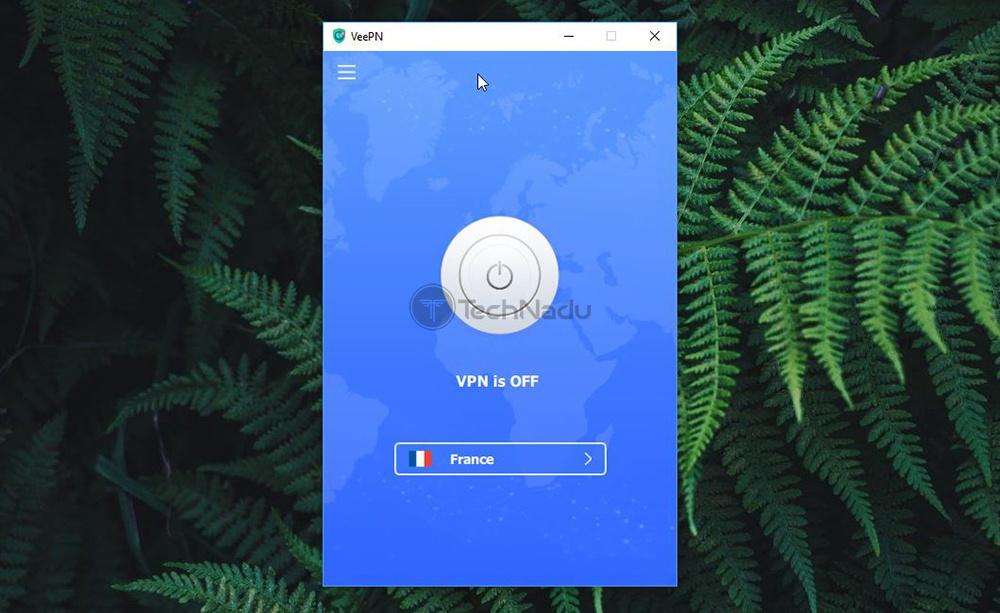 VeePN Home Screen UI