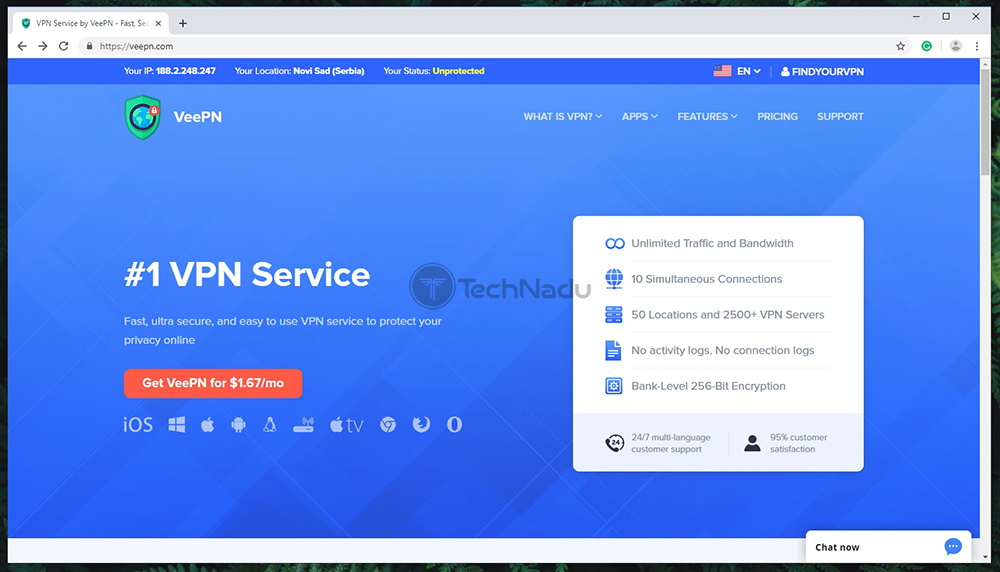 VeePN Website
