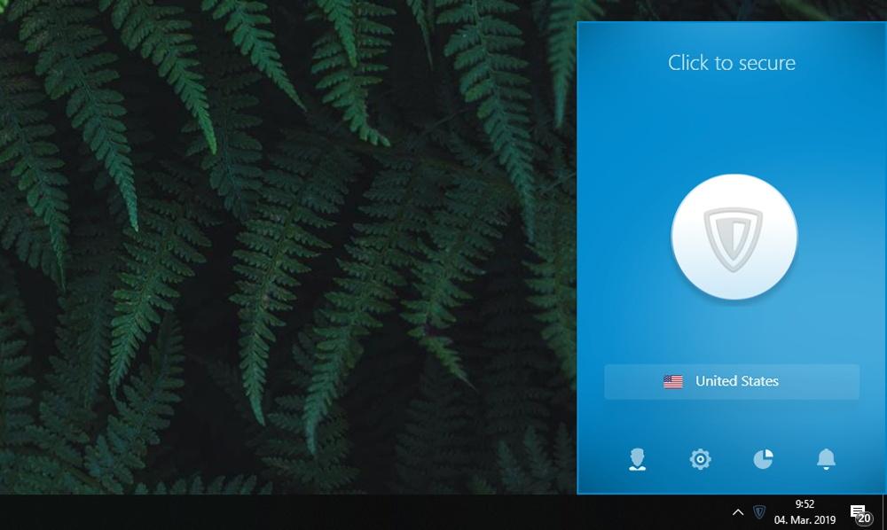 Zenmate VPN - Home Screen UI
