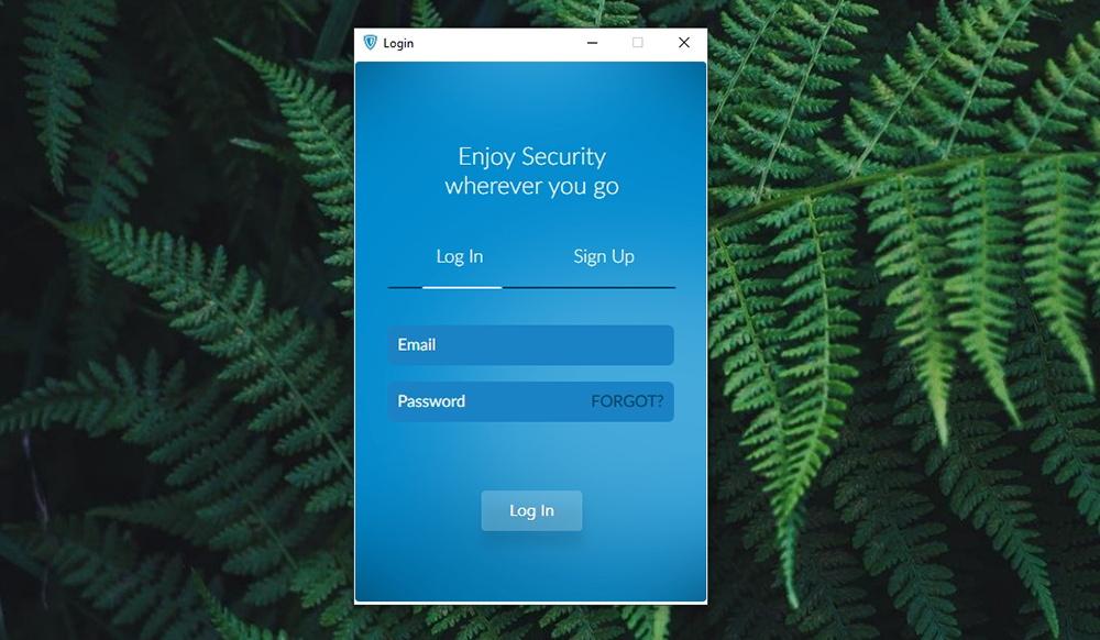 Zenmate VPN - Log-In Screen
