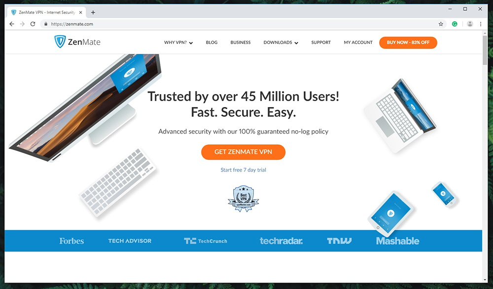Zenmate VPN - Website