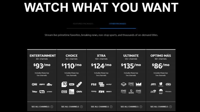 DirecTV Now new old bundles